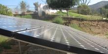Solar Panels on Gravel