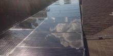 Solar Panel Cloud Reflection