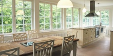 high-efficiency windows in a beautiful kitchen SolReliable