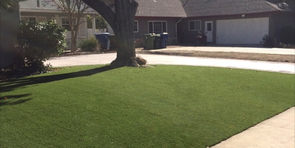 Artificial grass installation by Sol Reliable in California